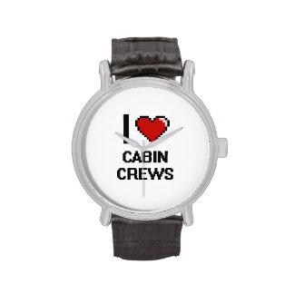 Amo a los equipos de la cabina relojes de pulsera