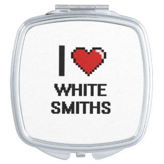 Amo a los forjadores blancos espejos maquillaje