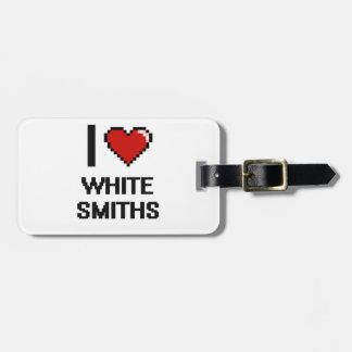 Amo a los forjadores blancos etiqueta para equipaje