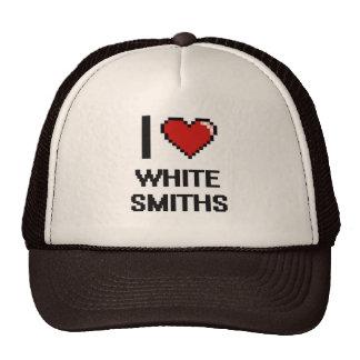 Amo a los forjadores blancos gorras de camionero