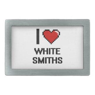 Amo a los forjadores blancos hebilla de cinturon rectangular