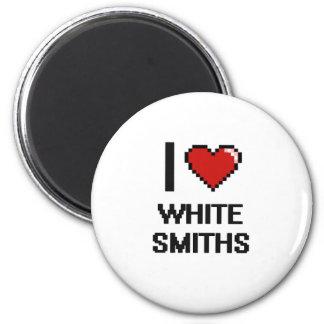 Amo a los forjadores blancos imán redondo 5 cm