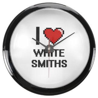 Amo a los forjadores blancos relojes aqua clock