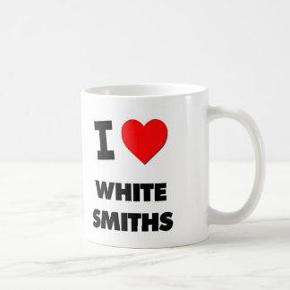 Amo a los forjadores blancos taza de café