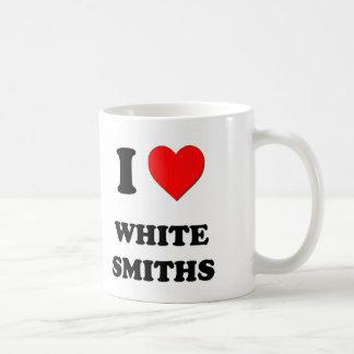 Amo a los forjadores blancos tazas de café