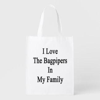 Amo a los gaiteros en mi familia bolsas reutilizables