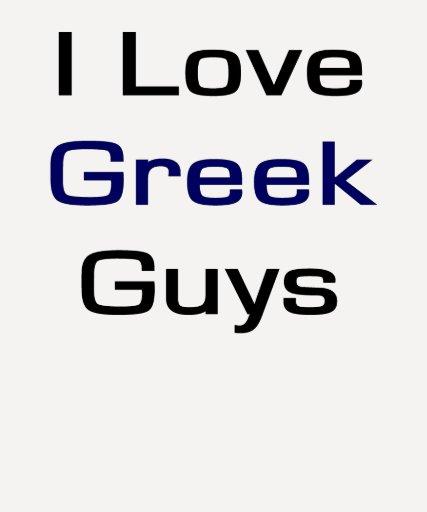Amo a los individuos griegos camisetas