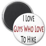 Amo a los individuos que aman caminar iman de nevera