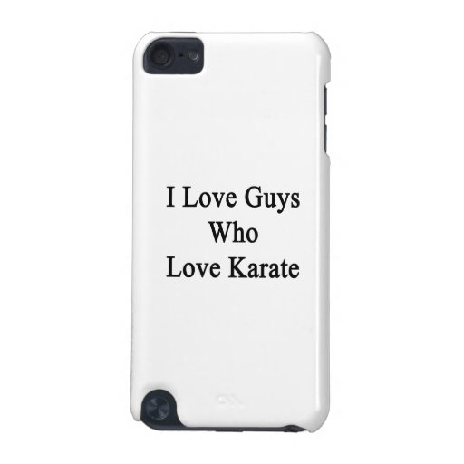 Amo a los individuos que aman karate funda para iPod touch 5G