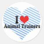 Amo a los instructores animales pegatinas redondas