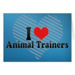 Amo a los instructores animales tarjeton