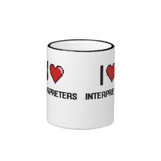 Amo a los intérpretes taza a dos colores