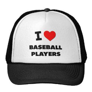 Amo a los jugadores de béisbol gorros bordados