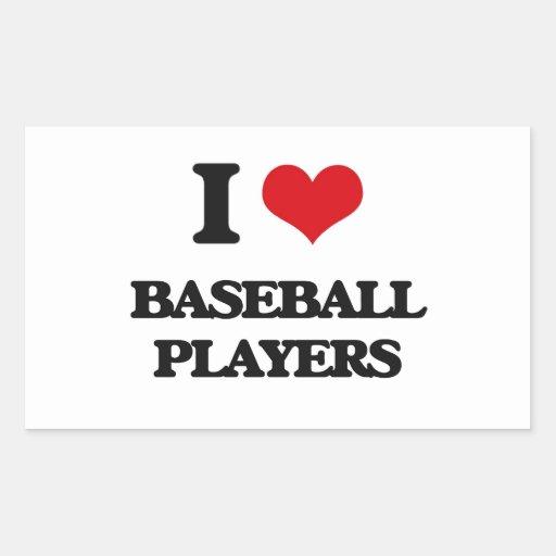 Amo a los jugadores de béisbol rectangular altavoz