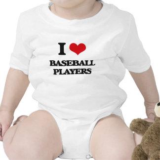 Amo a los jugadores de béisbol traje de bebé