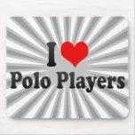 Amo a los jugadores de polo alfombrilla de ratón