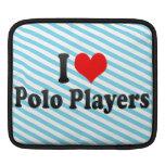 Amo a los jugadores de polo funda para iPads
