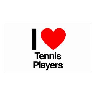 amo a los jugadores de tenis tarjetas de visita