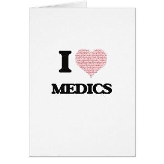 Amo a los médicos (el corazón hecho de palabras) tarjeta de felicitación