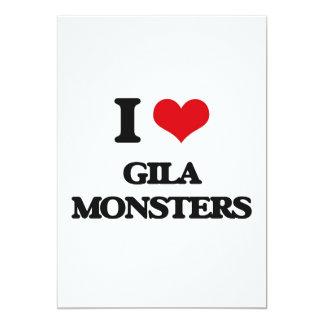 """Amo a los monstruos del Gila Invitación 5"""" X 7"""""""