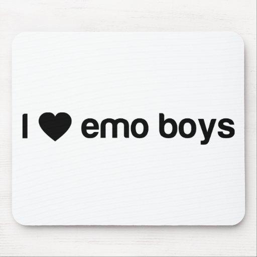 Amo a los muchachos de Emo Alfombrillas De Ratón