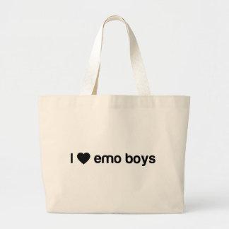 Amo a los muchachos de Emo Bolsa Tela Grande