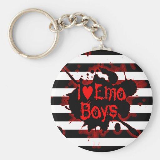 Amo a los muchachos de Emo Llavero Redondo Tipo Pin