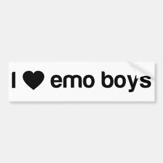 Amo a los muchachos de Emo Pegatina Para Auto