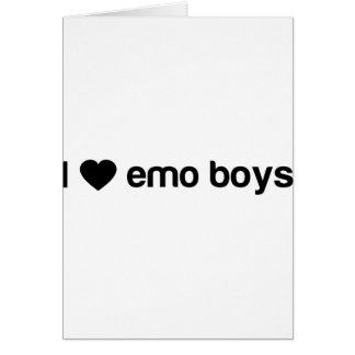 Amo a los muchachos de Emo Tarjeta De Felicitación