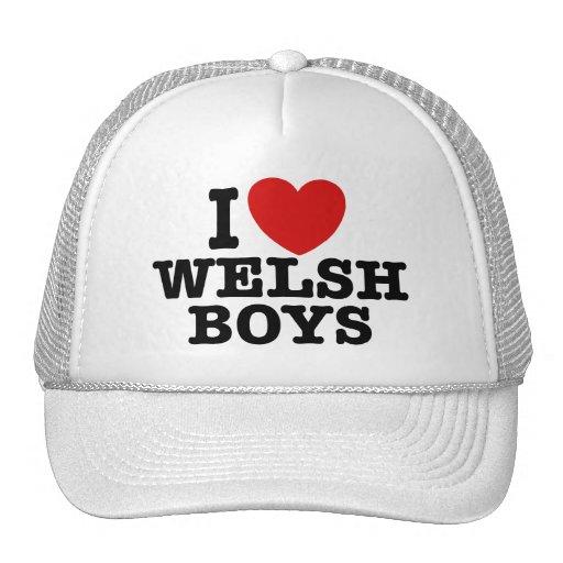 Amo a los muchachos Galés Gorras De Camionero