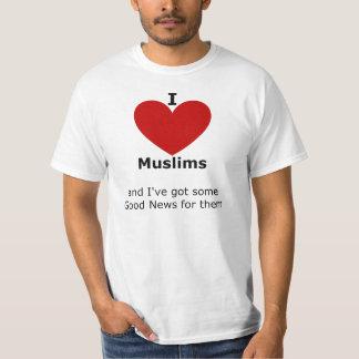 Amo a los musulmanes - camiseta para él remeras