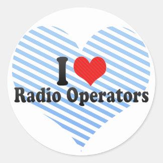 Amo a los operadores de radio etiqueta redonda