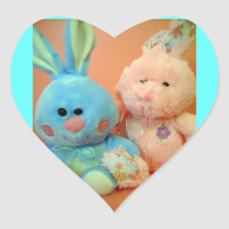 Amo a los pegatinas de los conejitos pegatinas corazon