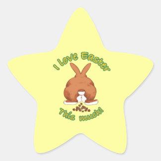 Amo a los pegatinas del sello del regalo de Pascua Calcomania Forma De Estrella Personalizada