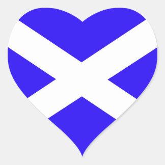 Amo a los pegatinas escoceses del saltire pegatina en forma de corazón