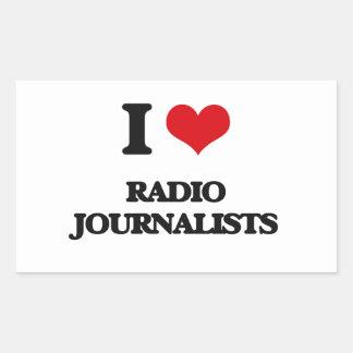 Amo a los periodistas de radio rectangular altavoces