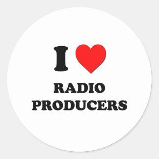 Amo a los productores de radio pegatina redonda