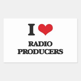Amo a los productores de radio rectangular altavoces