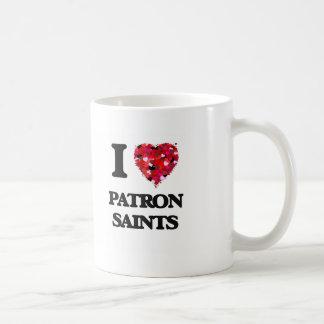 Amo a los santos patrones taza clásica