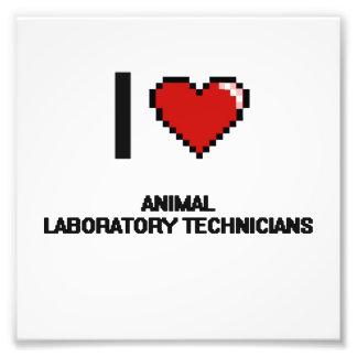 Amo a los técnicos de laboratorio animales arte con fotos