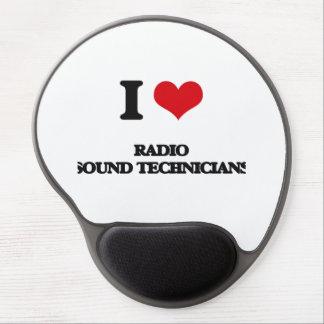Amo a los técnicos sanos de radio alfombrilla de raton con gel