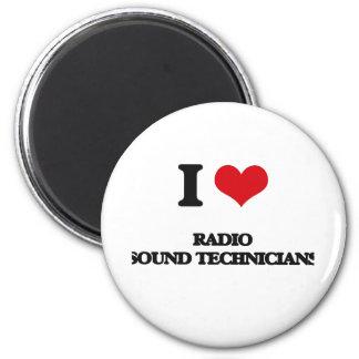 Amo a los técnicos sanos de radio imanes de nevera