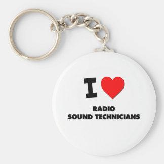 Amo a los técnicos sanos de radio llavero redondo tipo pin