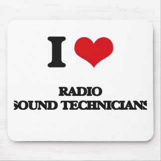 Amo a los técnicos sanos de radio tapete de ratón