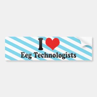 Amo a los tecnólogos de Eeg Pegatina De Parachoque