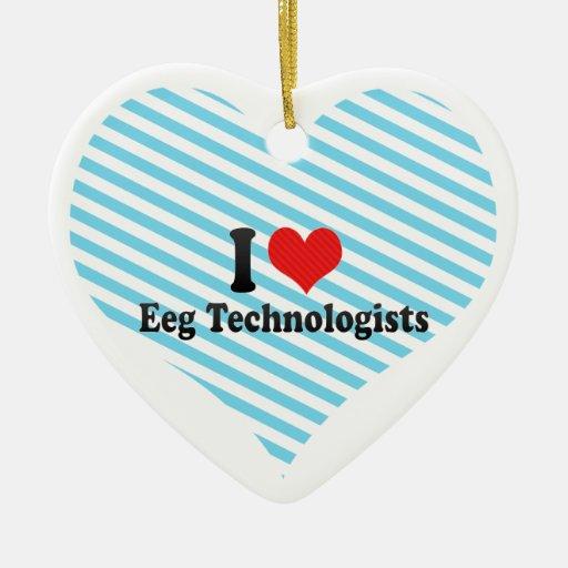 Amo a los tecnólogos de Eeg Adorno De Cerámica En Forma De Corazón