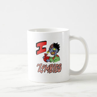 AMO A LOS ZOMBIS acabados 3 Tazas De Café