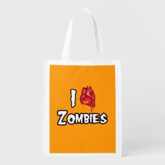 AMO a los ZOMBIS - Halloween - png Bolsas Reutilizables