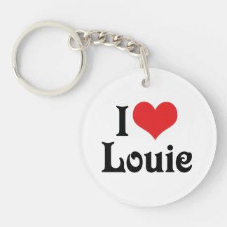 Amo a Louie Llavero Redondo Acrílico A Una Cara
