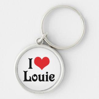 Amo a Louie Llavero Redondo Plateado